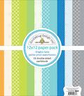 Doodlebug Petite Prints Double-Sided Cardstock 12\u0022X12\u0022-Dragon Tails