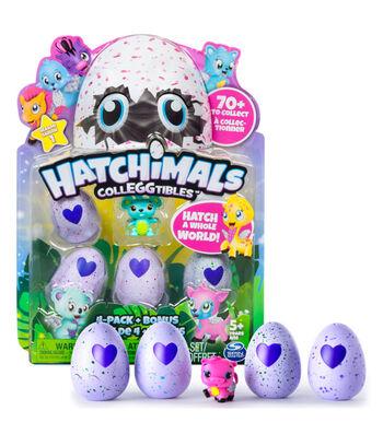 Hatchimals CollEGGtibles 4-Pack & Bonus CollEGGtible