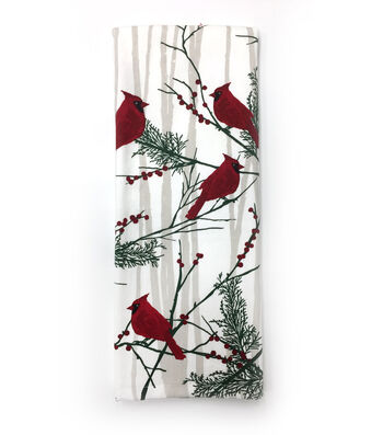 Maker's Holiday Christmas 16''x28'' French Terry Hand Towel-Cardinal