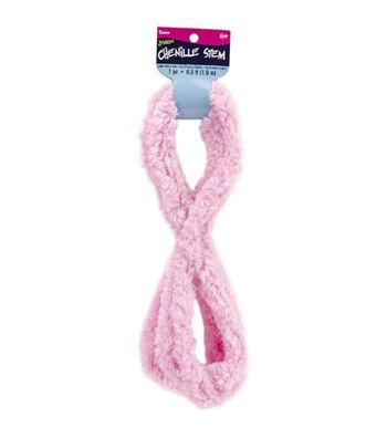 Jumbo Chenille Stem 6.5'-Baby Pink