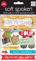 Aklm Love To Travel Embellishment