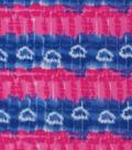 Anti-Pill Fleece Fabric 59\u0022-Pink Blue Tie Dye Stripe Hearts
