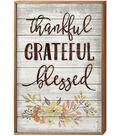 Highland Woodcrafters 16\u0027\u0027x24\u0027\u0027 Wood Sign-Thankful, Grateful, Blessed