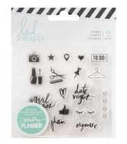 Heidi Swapp® Fresh Start Clear Stamps-Everyday, , hi-res