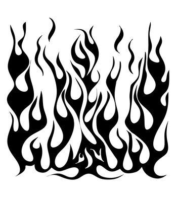 "6""X6""-Flames"