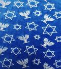 Sew Sweet Holiday Velvet Fabric 58\u0022-Hanukkah