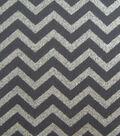 Keepsake Calico™ Cotton Fabric 43\u0022-Gray with Silver Metallic Chevron