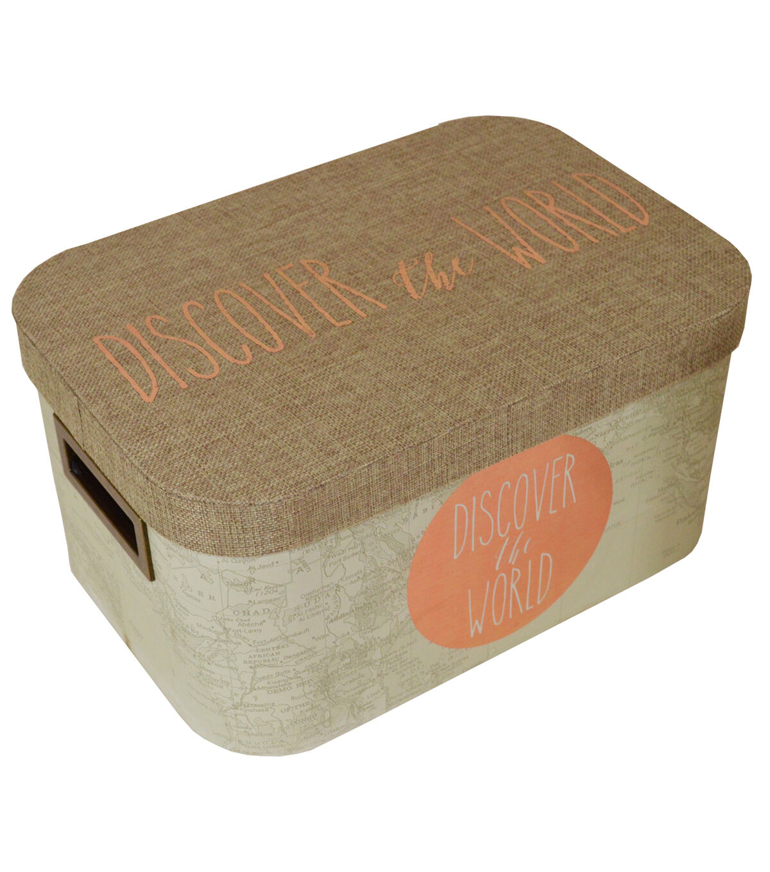 Captivating Organizing Essentials™ Medium Oval Lidded Box Explore