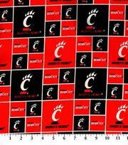 "University of Cincinnati Bearcats Cotton Fabric 43""-Block, , hi-res"