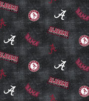 "University of Alabama Crimson Tide Flannel Fabric 42""-Distressed Logo, , hi-res"