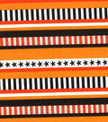Made in the USA Halloween Fabric - Patterned Stripe