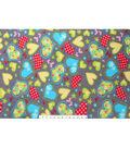 Anti-Pill Fleece Fabric 59\u0022-Groovy Hearts