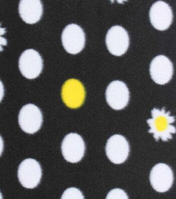 "Blizzard Fleece Fabric 59""-Daisy Flower Dot"
