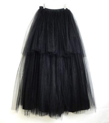 Maker's Halloween Adult Long Tutu-Black