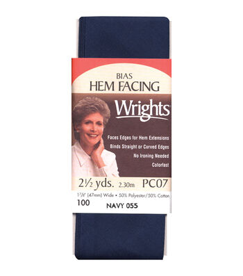 Wrights Hem Facing Bias-1-7/8'' x 2-1/2yds