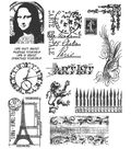 Tim Holtz Large Cling Rubber Stamp Set-Mini Classics