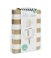Heidi Swapp Personal Memory Planner-Gold Foil Stripe, , hi-res