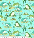 Snuggle Flannel Fabric 42\u0022-Dotted Froggies