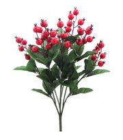 Blooming Holiday Christmas 22'' Berry & Foliage Spray-Red, , hi-res
