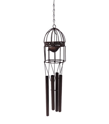 Wild Blooms Small Rustic Birdcage Wind Chime