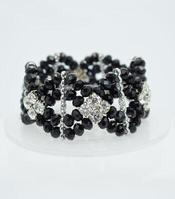 Crystal Diamond Style Bracelet-Black
