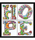 Design Works Zenbroidery Stamped Picture Kit-Hope