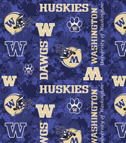 "University of Washington Huskies Fleece Fabric 60""-Digital Camo, , hi-res"