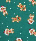 Holiday Showcase™ Christmas Cotton Fabric 43\u0027\u0027-Gingerbread on Green