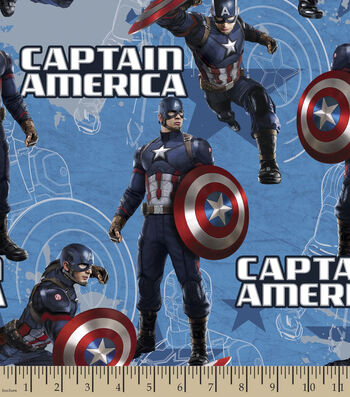 "Marvel™ Comics Captain America Cotton Fabric 43""-Star"