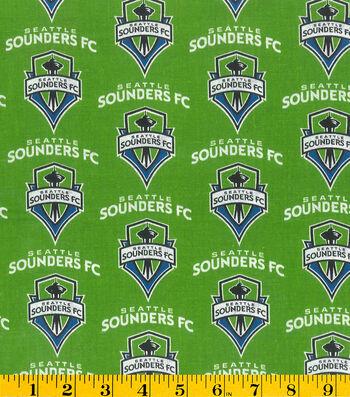 "Seattle Sounders Cotton Fabric 58""-Logo"