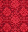 Holiday Showcase™ Harvest Cotton Fabric 43\u0022-Burgundy Damask