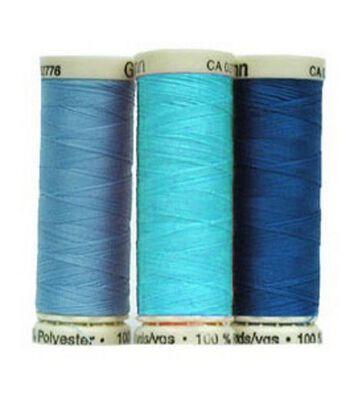 Gutermann Sew All Polyester Thread 110 Yards-Blues