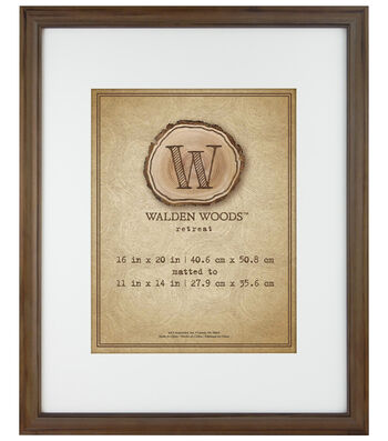 Walden Woods Wall Frame 16X20 To 11X14-Burt Oak