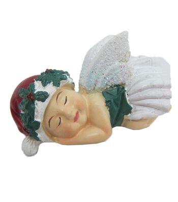 Maker's Holiday Christmas Littles Resin Side Sleeping Baby Fairy
