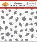 Echo Park Paper Company Carta Bella 6\u0027\u0027x6\u0027\u0027 Stencil-Fall Leaves