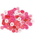 Favorite Findings Basic Buttons Assorted Sizes-Pink 130/pkg