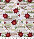Christmas Cotton Fabric 43\u0022-Seasons Greetings