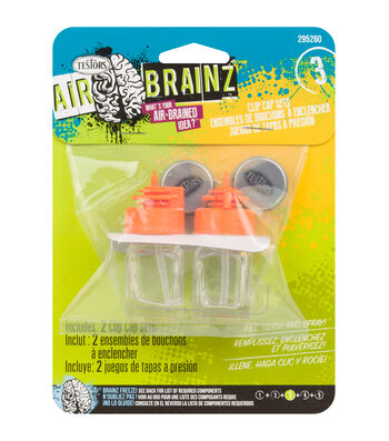 AirBrainz Airbrush Clip Caps 2/Pkg-Orange
