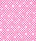 1930\u0027s Cotton Fabric 43\u0027\u0027-Diamonds & Dots on Pink