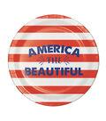 Americana Patriotic 8 Pack Paper Lunch Plate-America The Beautiful