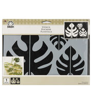 "FolkArt® 11.75""x8.25"" Motif Painting Stencil-Tropical Leaf, , hi-res"
