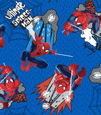 Marvel Comics™ Spiderman Cotton Fabric 43''-Web Swinging