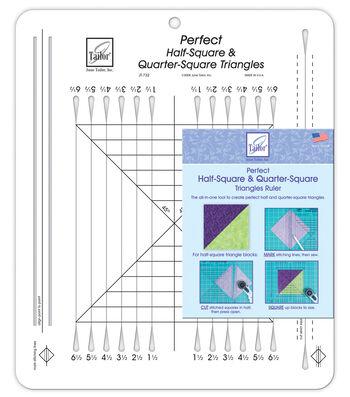 "Perfect Half Square & Quarter Square Triangles Ruler-10-1/2""X12-1/2"""