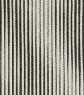 "Waverly Upholstery Fabric 54""-Timeless Ticking Black"