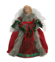 Maker's Holiday Christmas 12'' Velvet Angel-Red, , hi-res