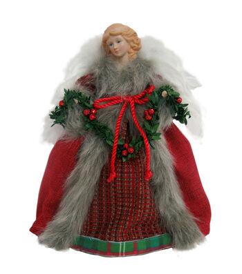 Maker's Holiday Christmas 12'' Velvet Angel-Red