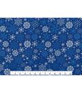 Keepsake Calico Holiday Cotton Fabric 43\u0022-Metallics Snowflake
