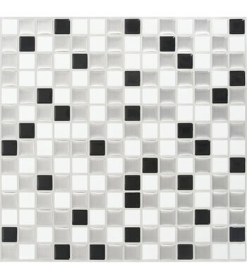 Peel & Impress™ 4pk-White/Steel Squares