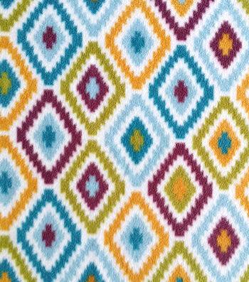 "Anti-Pill Fleece Fabric 59""-Diamond Zigzag"