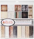 Ella & Viv Collection Kit 12\u0022X12\u0022-Wood Backgrounds